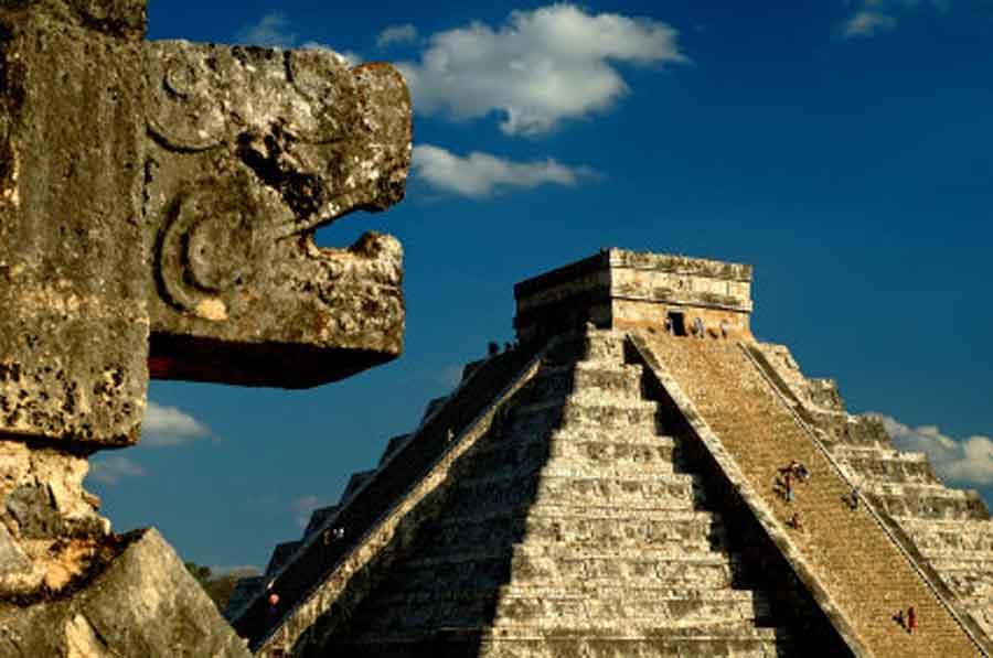 Pozůstatky Aztécké civilizace v Mexiku